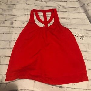 Red Racerback Tank Top. Size L.